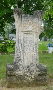Woodman of the World marker, Woodlawn Cemetery, Lima, OH (2013 photo by Karen)