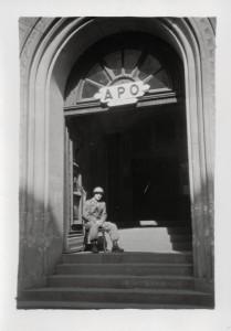 A guard at the Post Office at Heidelberg.