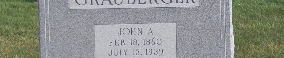 John A. Grauberger, Zion Lutheran Cemetery, Chattanooga, Mercer County, Ohio. (2014 photo by Karen)