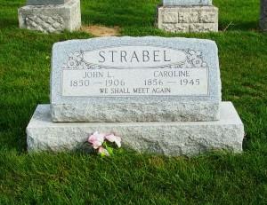 John L & Caroline (Deitsch) Strabel, Zion Lutheran Cemetery, Mercer County, Ohio. (2011 photo by Karen)