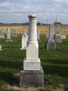Georg Strable, Zion Lutheran Cemetery, Chattanooga, Mercer County, Ohio. (2011 photo by Karen)