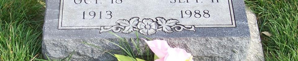 Edna E. (Grauberger) Clase, Zion Lutheran Cemetery, Chattanooga, Mercer County, Ohio. (2011 photo by Karen)