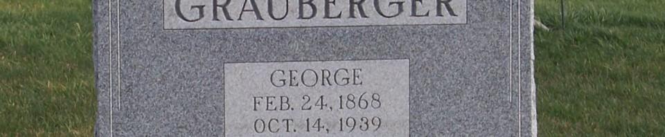 George Grauberger, Zion Lutheran Cemetery, Chattanooga, Mercer County, Ohio. (2011 photo by Karen)