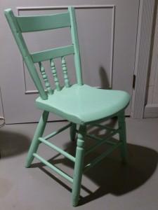 One of Grandma Schumm's green chairs.
