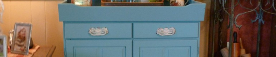 Dry sink after painting with