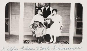Sisters Hilda & Edna Scaer with Carl Schinnerer.