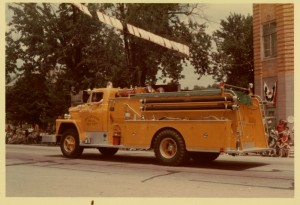 Chattanooga, Ohio, Fire Truck, Willshire Parade, Unknown date.