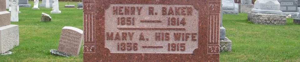 Henry R. & Mary A. (Menche) Baker, Zion Lutheran Cemetery, Chattanooga, Mercer County, Ohio. (2011 photo by Karen)