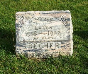 La Von Becher, Zion Lutheran Cemetery, Chattanooga, Mercer County, Ohio. (2011 photo by Karen)