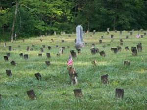 Cemetery at The Ridges, Athens, Ohio. (2009 photo by Karen)