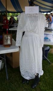 Mamie Schumm's 1912 wedding dress. (2016 photo by Karen)