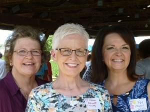 Cousins Sharon, Karen, and Patty. (2016 photo by Karen)
