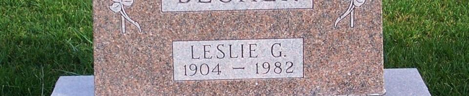 Leslie Becher, Zion Lutheran Cemetery, Mercer County, Ohio. (2011 photo by Karen)