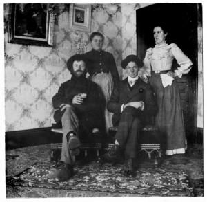 Steve Germann, George M. Schumm, Louise Schumm, Ida Schumm.