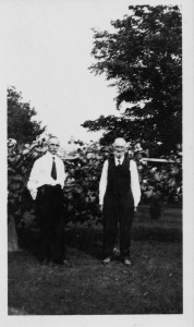 George M Schumm with his father J Frederick.
