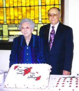Harold & Berneice Stetler, 65th wedding Anniversary, 2001.