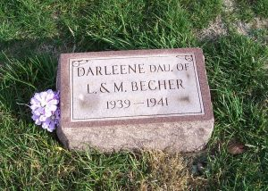 Darleene Becher, Zion Lutheran Cemetery, Chattanooga, Mercer County, Ohio. (2011 photo by Karen)