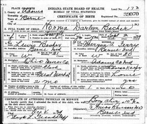 Darleene Becher birth certificate. [1]