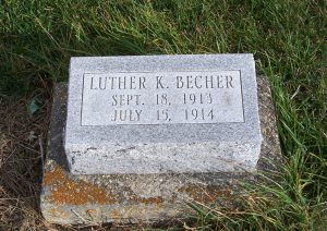 Luther K. Becher, Zion Lutheran Cemetery, Mercer County, Ohio. (2011 photo by Karen)