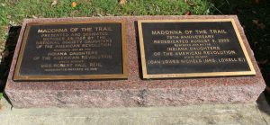 Madonna of the Trail, Richmond, Indiana. (2016 photo by Karen)