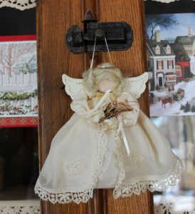 Angel made by Dorothy Humbert, from hankie.