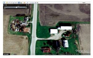 Google Earth after the fire, February 2006.