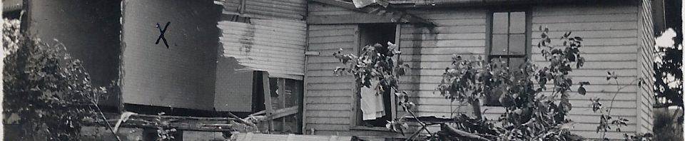 Home damaged by tornado east of Willshire c1920. (photo submitted by Carol Schumm Piper)