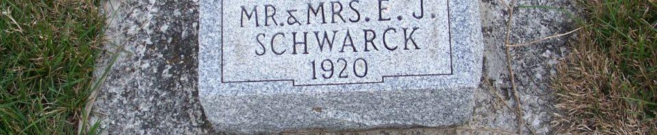 Infant daughter of Jacob & Clara (Hughes) Schwarck, Zion Lutheran Cemetery, Mercer County, Ohio. (2011 photo by Karen)
