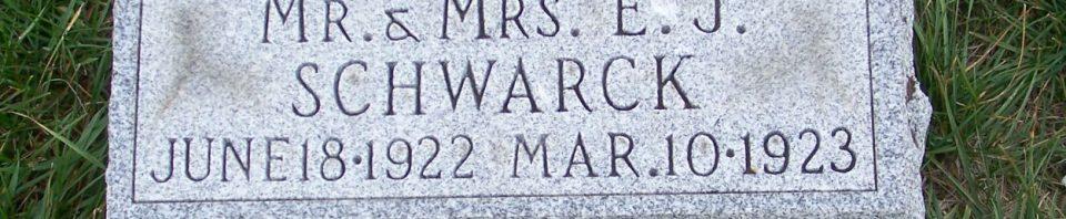 Louis Edwin Schwarck, Zion Lutheran Cemetery, Mercer County, Ohio. (2011 photo by Karen)