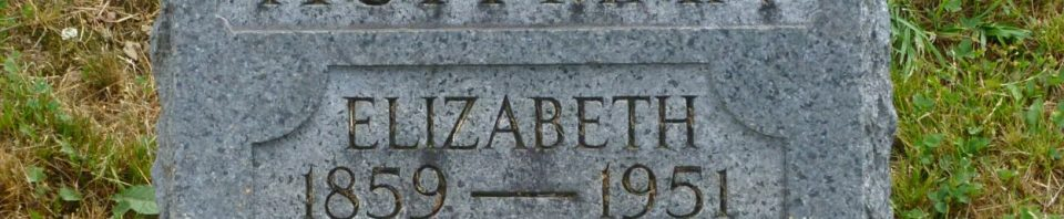 Elizabeth Huffman, Kessler/Liberty Cemetery, Mercer County, Ohio. (2017 photo by Karen)