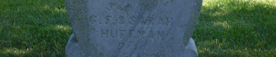 Clarence Huffman, Kessler Cemetery, Mercer County, Ohio. (2017 photo by Karen)