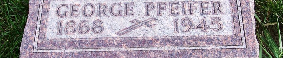 George Pfeifer, Zion Lutheran Cemetery, Mercer County, Ohio. (2011 photo by Karen)