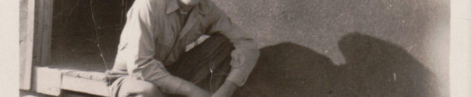 Herb Miller, Fort McClellan, AL, basic training, 1944.