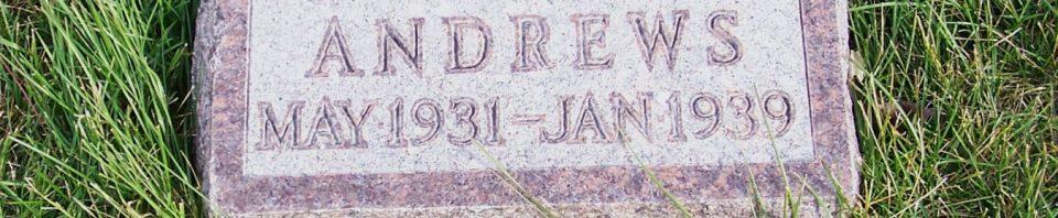 Richard Carl Andrews, Zion Lutheran Cemetery, Mercer County, Ohio. (2011 photo by Karen)