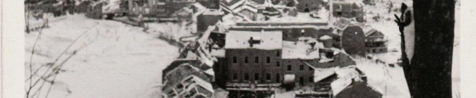 Town in Belgium, 1945.