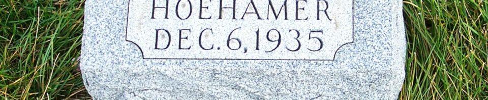 Caroll Hoehamer, Zion Lutheran Cemetery, Mercer County, Ohio. (2011 photo by Karen)