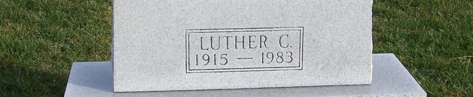 Luther C. Bollenbacher, Zion Lutheran Cemetery, Mercer County, Ohio. (2011 photo by Karen)