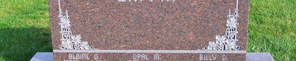 Blaine, Opal, & Billy Laffin, Zion Lutheran Cemetery, Mercer County, Ohio. (2011 photo by Karen)