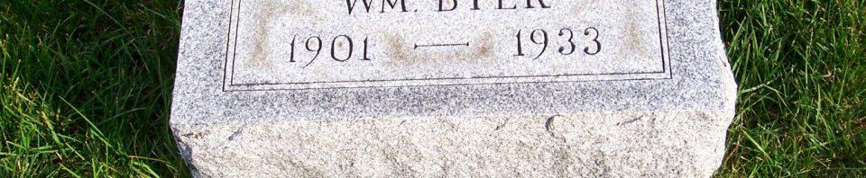 Freda (Becher) Byer, Zion Lutheran Cemetery, Mercer County, Ohio. (2011 photo by Karen)