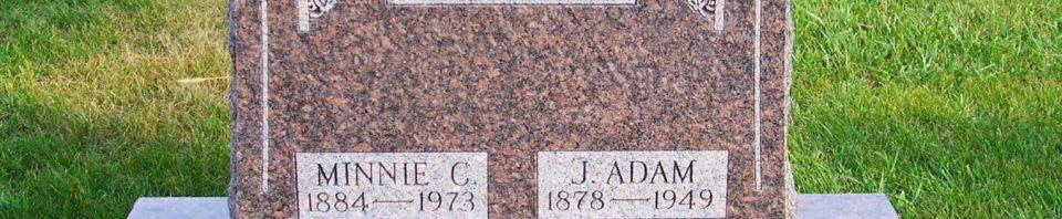 J Adam & Minnie (Koch) Fisher, Zion Lutheran Cemetery, Mercer County, Ohio (2011 photo by Karen)