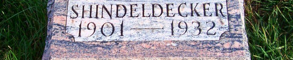 Eda E Shindeldecker, Zion Lutheran Cemetery, Mercer County, Ohio. (2011 photo by Karen)