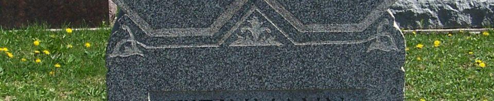 George & Mary E. (Gunsett) Weinmann, Zion Lutheran Cemetery, Schumm, Van Wert County, Ohio. (2012 photo by Karen)