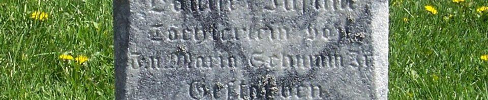 Louise Justine Schumm, Zion Lutheran Cemetery, Van Wert County, Ohio. (2012 photo by Karen)
