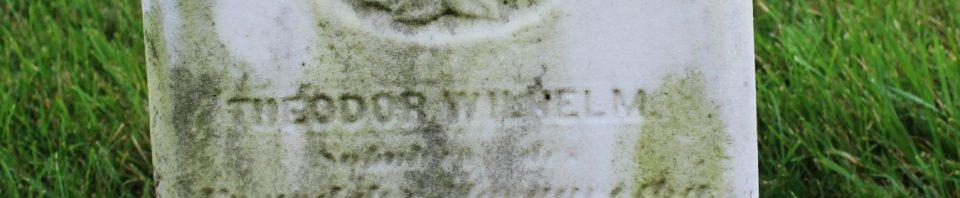 Theodor Wilhelm Schumm, Zion Lutheran Cemetery, Schumm, Van Wert County, Ohio. (2018 photo by Karen)