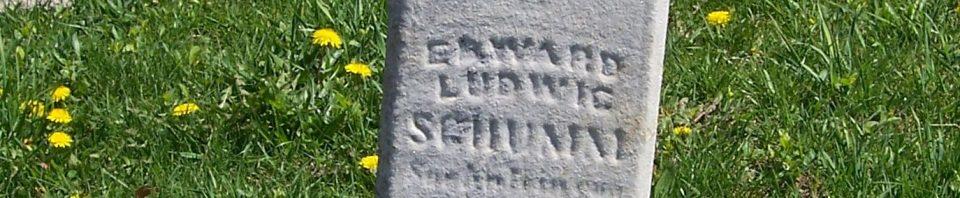 Edward Ludwig Schumm, Zion Lutheran Cemetery, Schumm, Van Wert County, Ohio. (2012 photo by Karen)