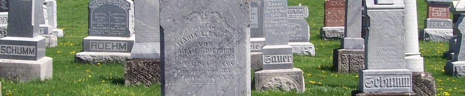 Maria E. (Germann) Dietrich, Zion Lutheran Cemetery, Schumm, Van Wert County, Ohio. (2012 photo by Karen)