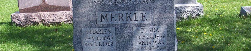 Charles & Clara (Schumm) Dietrich Merkle, Zion Lutheran Cemetery, Van Wert County Ohio. (2012 photo by Karen)