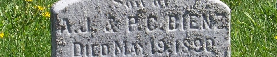 Walter Bienz, Zion Lutheran Cemetery, Van Wert County, Ohio. (2012 photo by Karen)