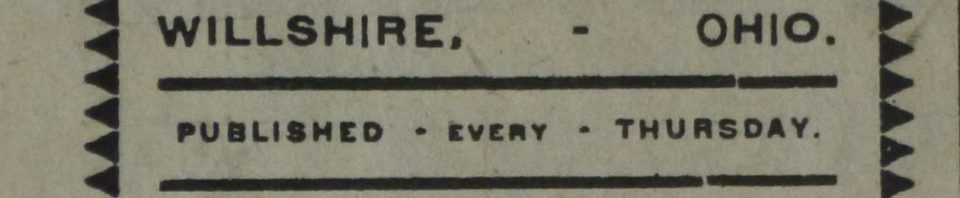 The Willshire Herald, 1904.