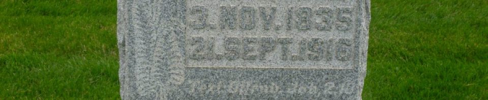Magdalena (Schueler) Bienz, St. Paul Evangelical Lutheran Cemetery, Preble, Adams County, Indiana. (2019 photo by Karen)